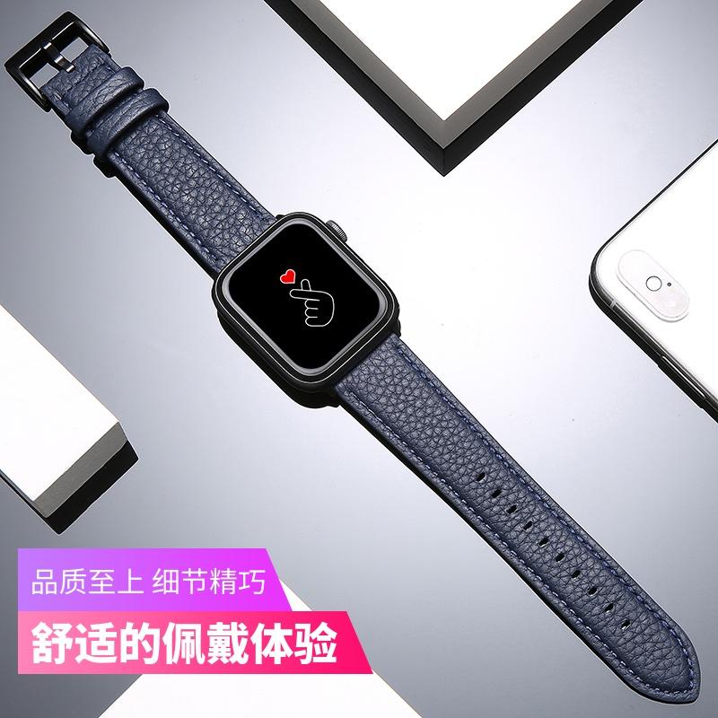 ℃γสายนาฬิกา applewatch6นาฬิกา watchse สายหนังแท้ watch5/4/3/2/1 series38 MM แบรนด์ยอดนิยมม้าบ้ากีฬาสร้างสรรค์42 mm44