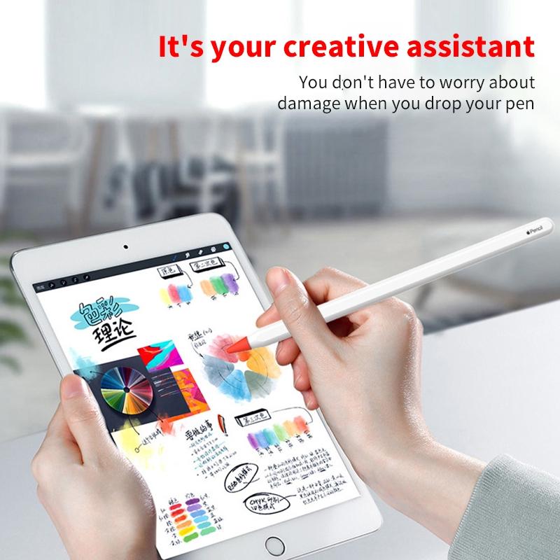 เคส 8 ชิ้นสำหรับ Apple Pencil 1 2st Pen Point Stylus แทบเล็ต Portable หัวปากกา Apple Pencil Silicone ปากกาเขียนหน้าจอ Protector ปากกาเขียนไอแพด Stylus Pen