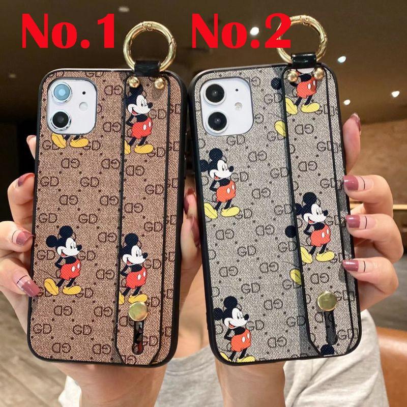 Samsung case for Samsung J2 J3 J4 J5 J6 J7 prime pro 2016 A6s A6 A6p A8 A8p A7 A9 2018 new cartoon Mickey with wristband anti-fall phone case