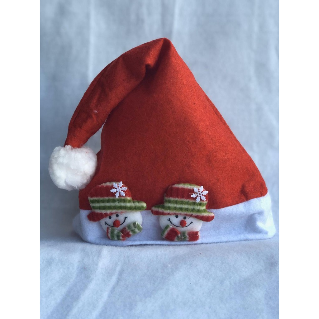 Kids/& Adults Soft Plush Ultra Thick Santa Claus Christmas Cap Hat Red Gift 2020