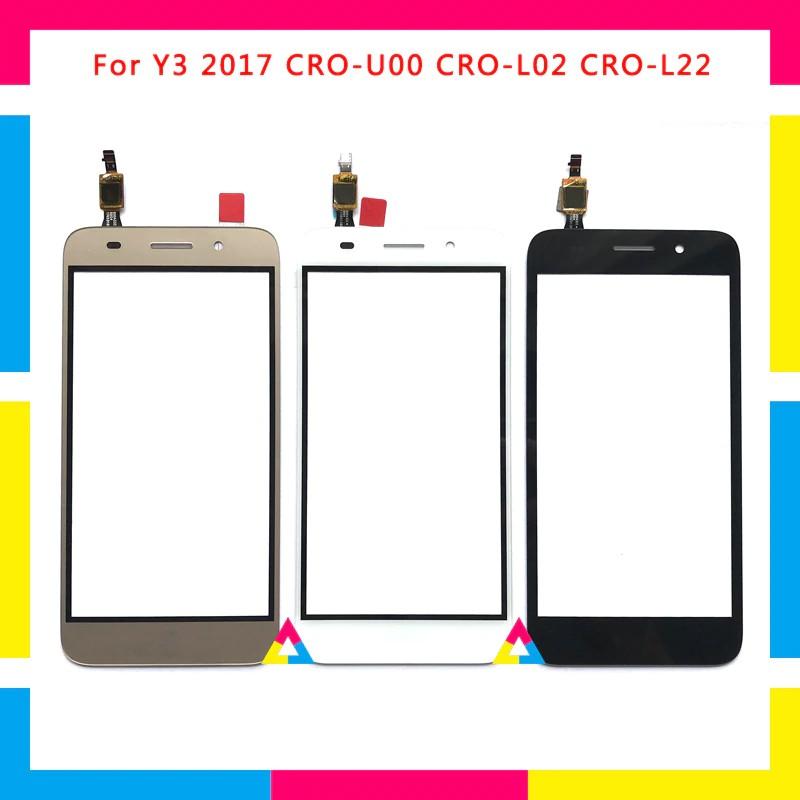 For Huawei Y3 2017 CRO-U00 CRO-L02 CRO-L22 5.0 inch ชุดประกอบ Digitizer หน้าจอสัมผัส(Touch Screen)