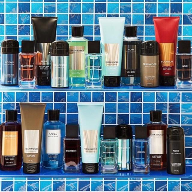 รวมสินค้า For Men จาก Bath & Body Work มีหลายกลิ่นหอมให้เลือก Ultra Shea Body Cream/Body Wash/ Body Spray/ Body Colonge