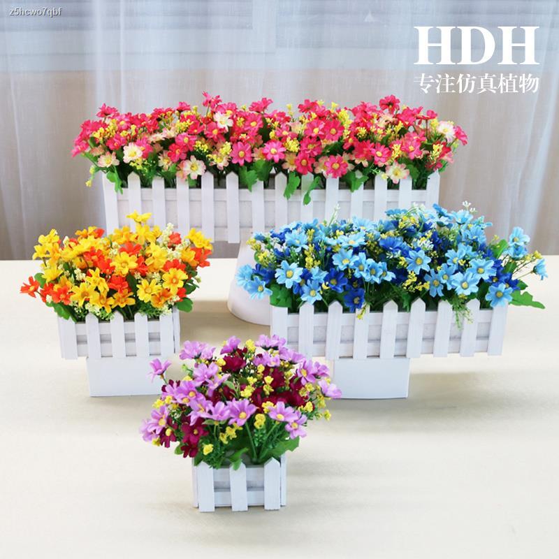 การจำลองพันธุ์ไม้อวบน้ำ☾▤✆ดอกไม้ปลอมกระถางดอกไม้รั้วประดับ กระถางจำลองดอกไม้ ชุดห้องนั่งเล่น ของตกแต่งวันหยุด ตกแต่งภายใ