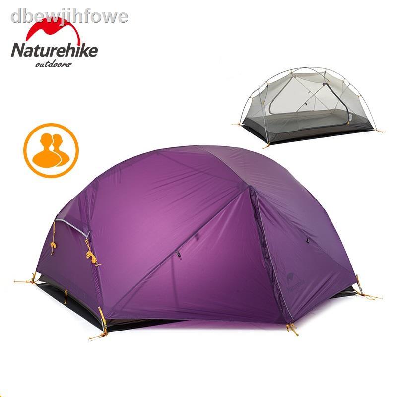 เต็นท์♚Naturehike New Mongar 2 Tent, 2 Person Camping Tent Outdoor Ultralight 2 Man Camping Tents With Vestibule