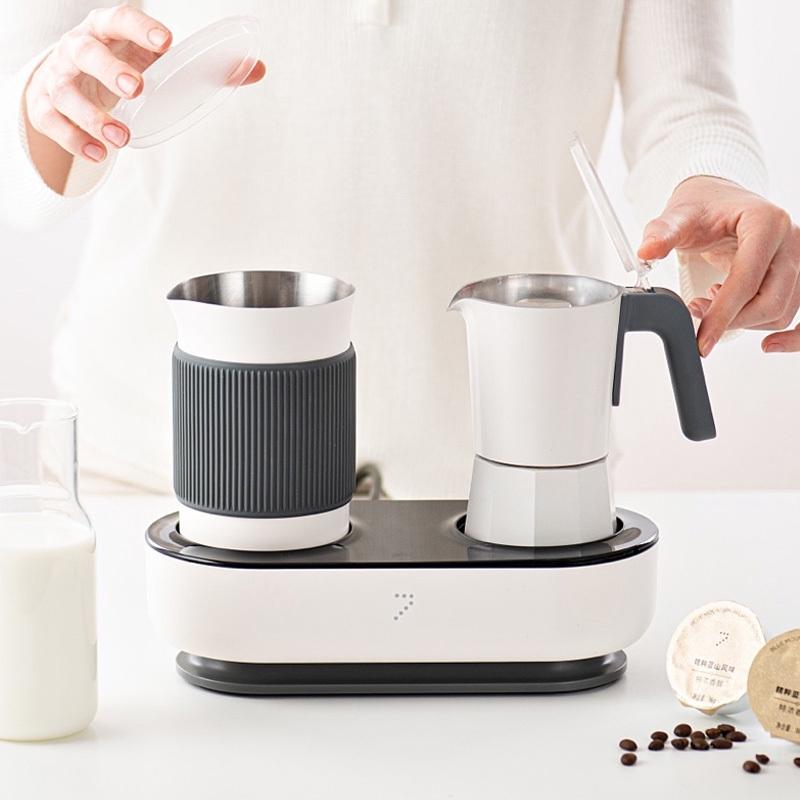 เครื่องทำกาแฟWARMPRO CM142 เครื่องชงกาแฟแคปซูลบ้านอิตาลี Moka หม้อกาแฟนมแฟนซีเครื่องบูรณาการที่เจ็ดพลังงาน