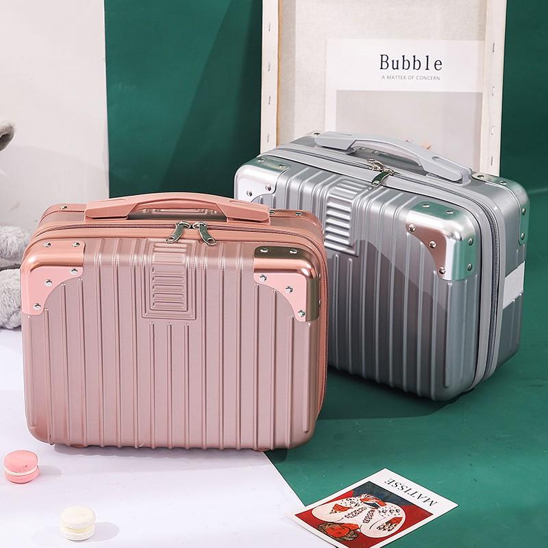 กระเป๋าเดินทางกระเป๋าเดินทางใบเล็ก 14 นิ้วกระเป๋าใส่เครื่องสำอางขนาดเล็กน้ำหนักเบาสไตล์เกาหลี 16 ใบ