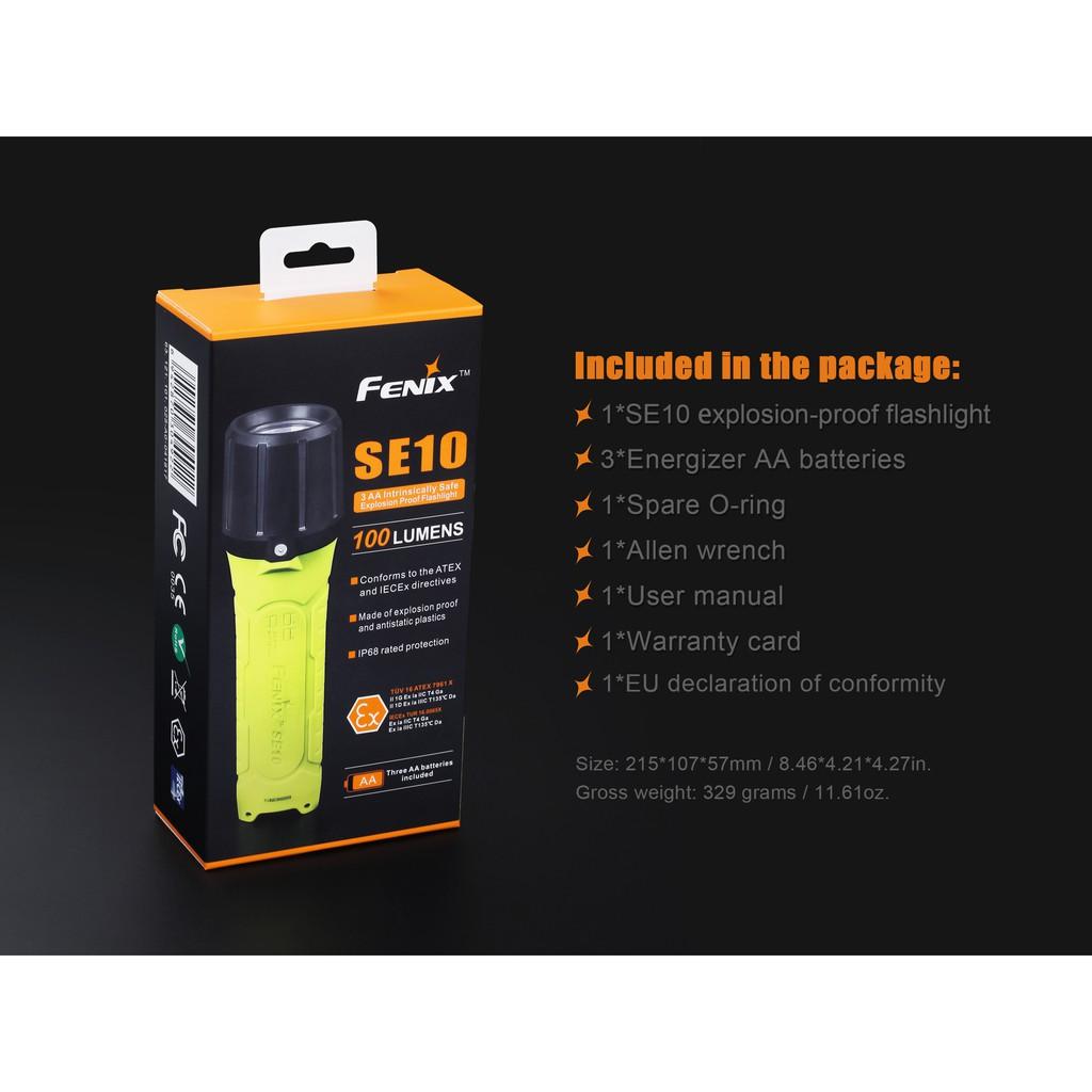 ไฟฉายป้องกันการระเบิด  Fenix SE10  สินค้าตัวแทนในไทยมีประกัน  3 ปี