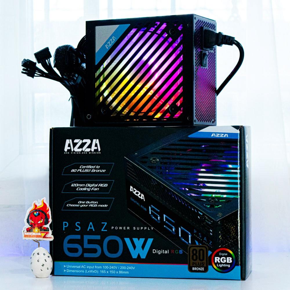 มีโค้ด12% PSU AZZA 650W ARGB 80Plus Bronze PSAZ  Power Supply