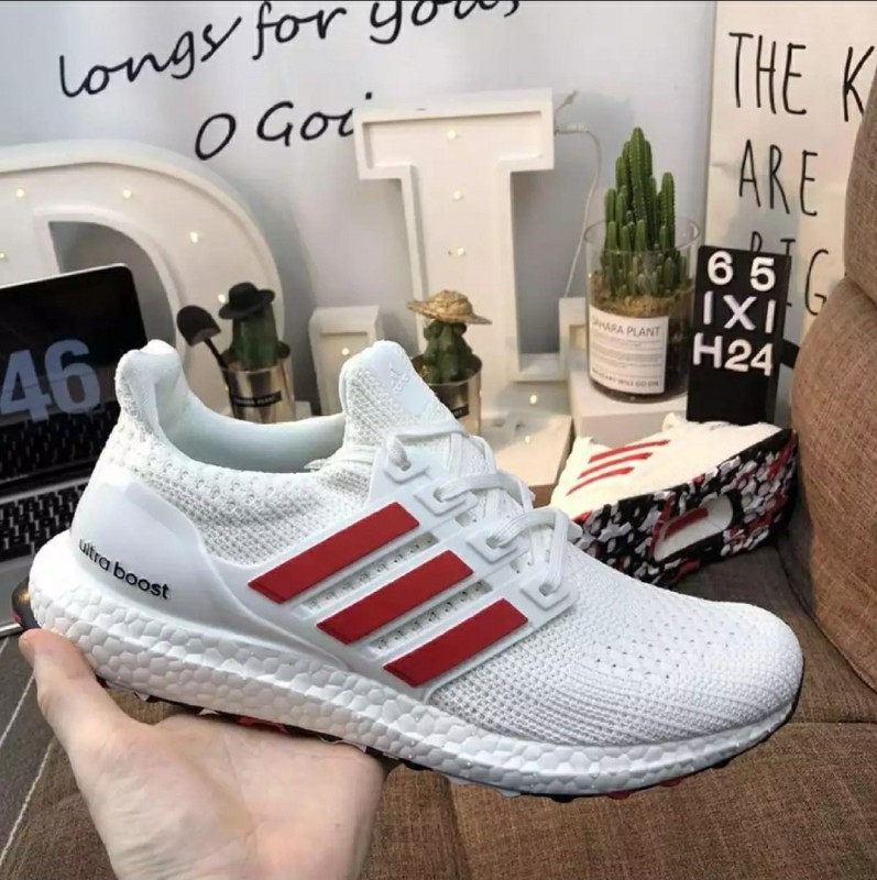 [PK_God]  รองเท้าAdidas Ultra Boost 4.0 Active Red Cloud White