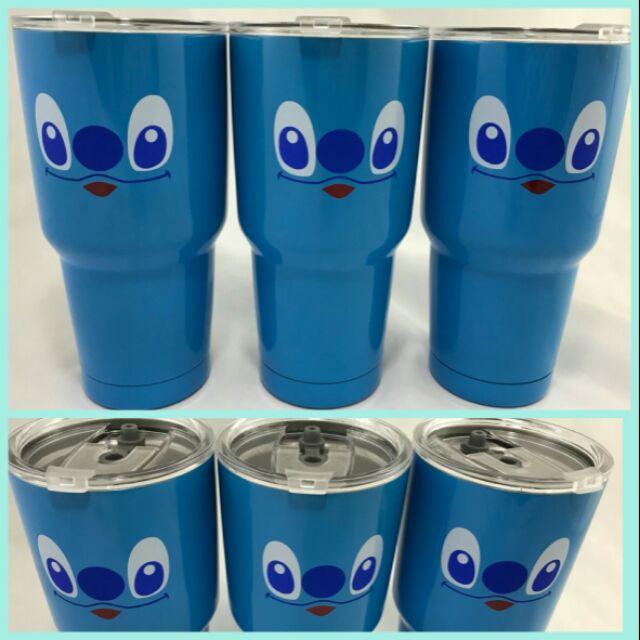 แก้วน้ำเก็บความเย็น  แก้วเก็บความเย็น  ลาย สติช สีฟ้า ที่เก็บความเย็น  แก้วเก็บความเย็น