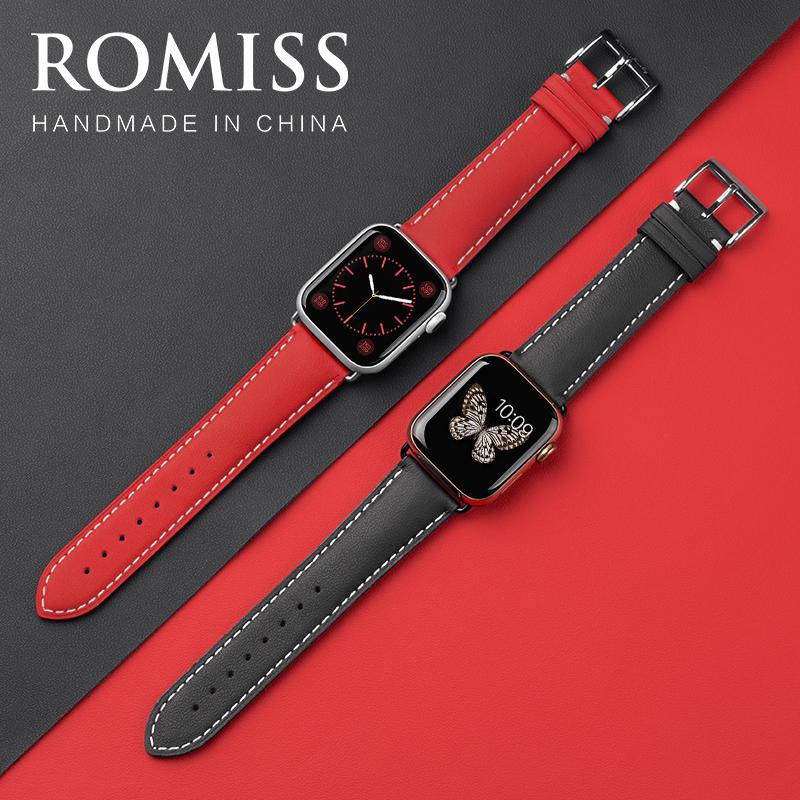 สาย apple watch หนังวัวอิตาลีสำหรับนาฬิกาแอปเปิ้ลiwatch6สายรัดapplewatch se/5/4/3/2S40/44mmหนังแท้ชายและหญิงseriesสายรัด