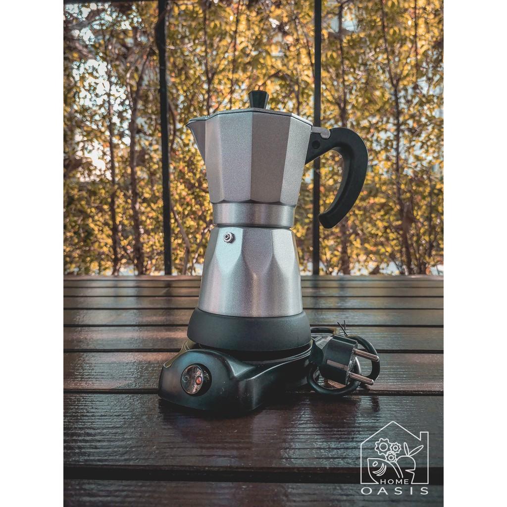 เครื่องชงกาแฟ แบบ Moka Pot ไฟฟ้า เครื่องทำกาแฟ Mokapotไฟฟ้า