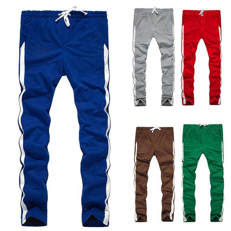 Mens Sweatpants Tracksuit Casual Gym Long Pants Skinny Joggers Trousers Bottoms