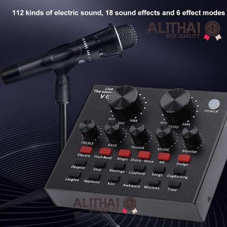 Review Alithai V8 Audio USB Headset Microphone Webcast Live Sound Card for Phone Computer