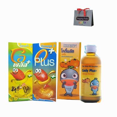 OPLUS Omega 3 อาหารเสริมเด็ก โอพลัส โคดี้พลัส Beta Glucan เบต้ากลูแคน Set Healthy Kids