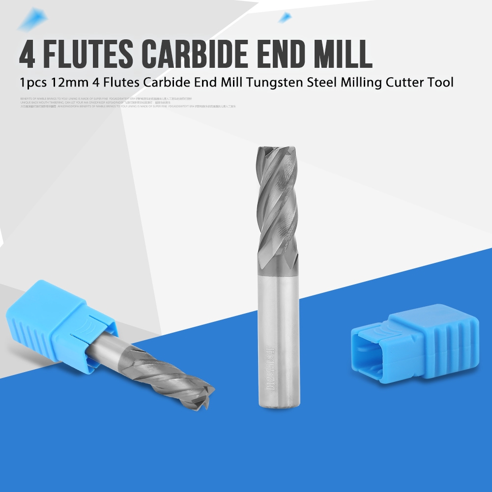 2MM HRC68 4 Flutes Nanoscale Blue Tungsten Carbide End Mill CNC Tool 50MM Length