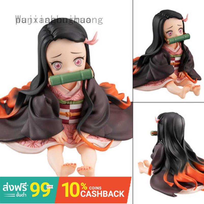 ผลิตภัณฑ์แอนิเมชั่นยอดนิยมล่าสุด♀Demon Slayer 6.5cm Kimetsu No Yaiba Nezuko Figure Model Toy Anime Demon Slayer Figure S