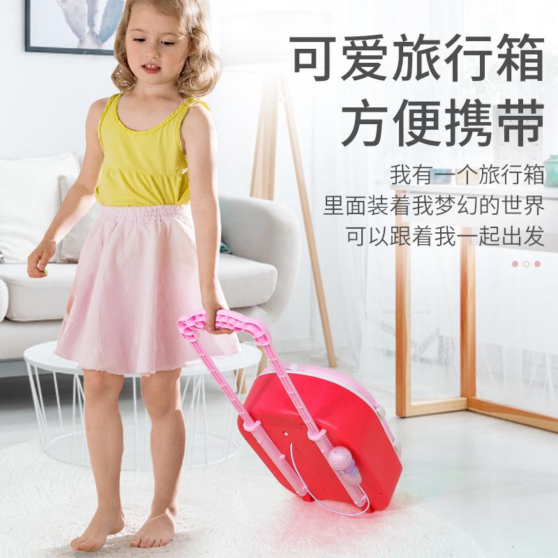チ⊗กระเป๋าเดินทางเด็ก  กล่องเดินทางเด็กเล่นบ้านเด็กตู้เย็นของเล่นสาวของขวัญวันเกิดเด็กผู้หญิง3 7ปี9รถเข็นกล่อง8ถึง12เด็ก