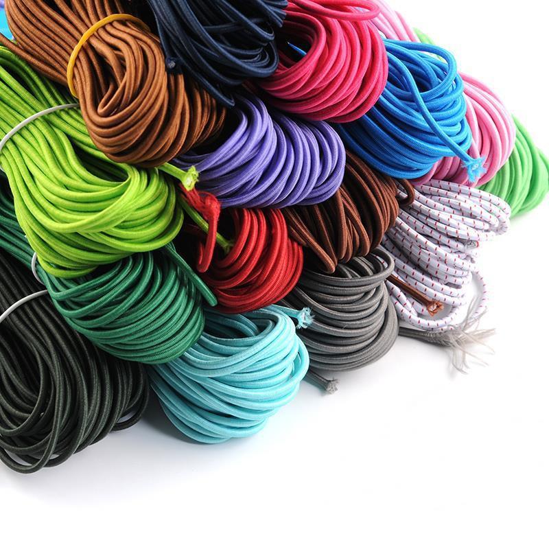 เชือกยืดหยุ่น รูปทรง สําหรับใช้ในการเล่นโยคะ ออกกําลังกาย✹☃สายยางสีดำ ยืดหยุ่นสูง ทนทาน เชือกยางยืดยาวและยืดหยุ่นสูง สี