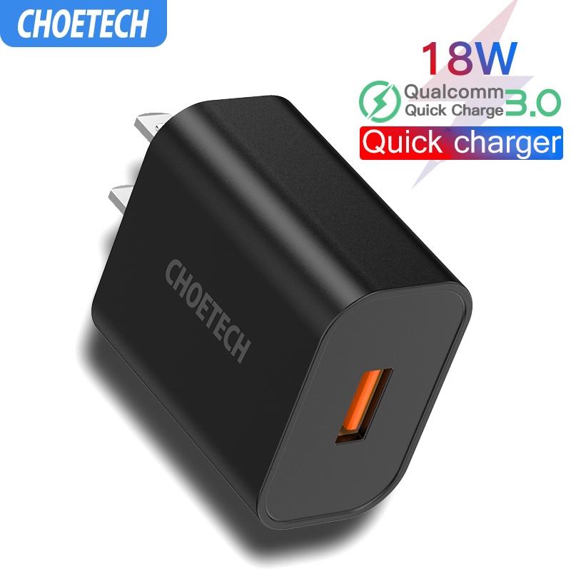 CHOETECH  หัวชาร์จเร็ว QC3.0 18W Quick Charge  หัวชาร์จไฟบ้าน ปลั๊กชาร์จ  Charger ชาร์จเร็ว