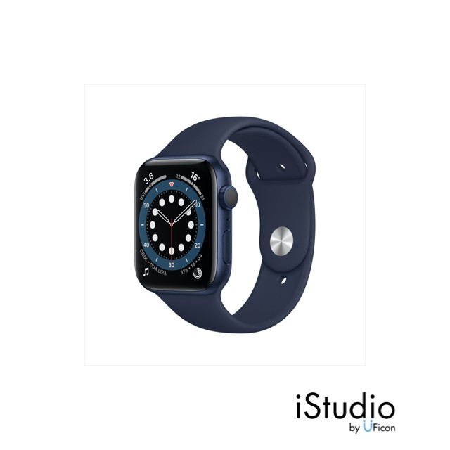 Apple Watch Series 6 GPS, Aluminium Case with Sport Band (2020) ; iStudio by UFicon
