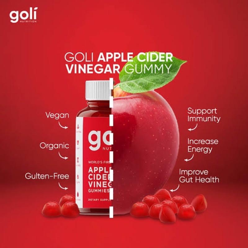Goli Apple Cider Vinegar Gummies 60 pieces 🗽in stock พร้อมส่ง🗽