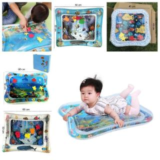 Baby Inflatable Water Mat Ice Pad Toys Infants Toddlers Fun Tummy Time Play Activit