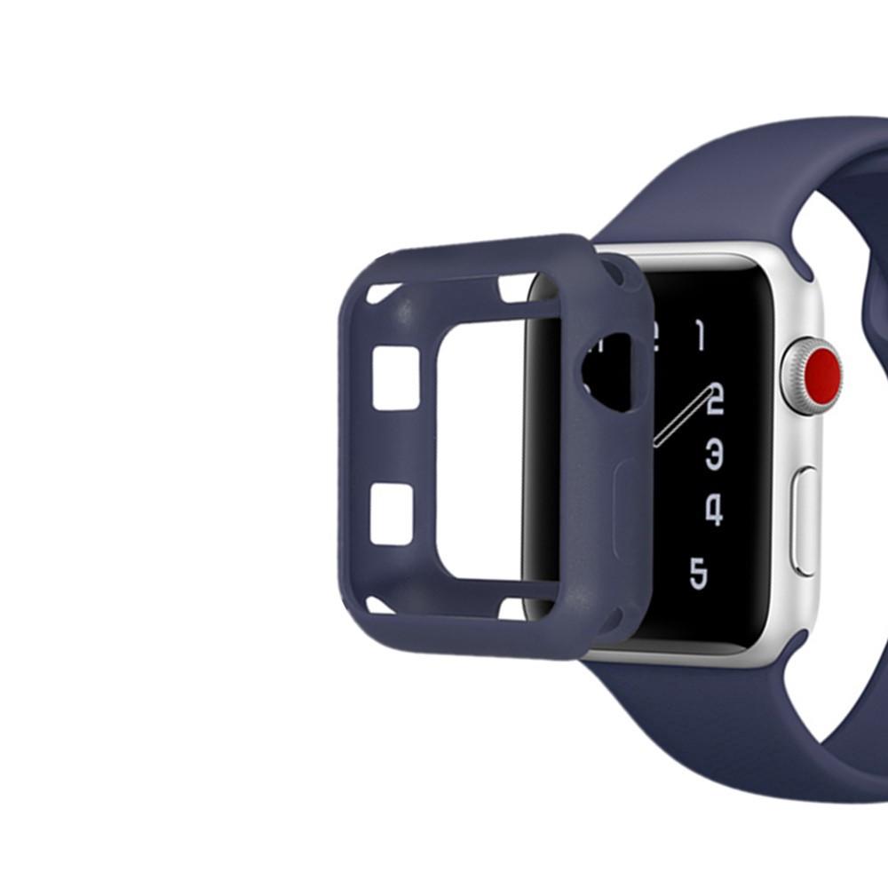 สาย applewatch ซิลิโคนอ่อนสำหรับ Apple Watch 1/2/3/4/5/6 Iwatch 38 มม. 40 42 44 Iwatch Series Se 6/5/4/3/2/1 เคส Apple W
