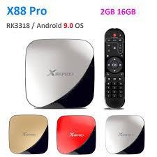 X88 Pro Android 9.0 TV Box Rockchip RK3318 4 Core 2.4G&5G Wifi4K HDR Set Top Box กล่องแอนดรอยด์ทีวี
