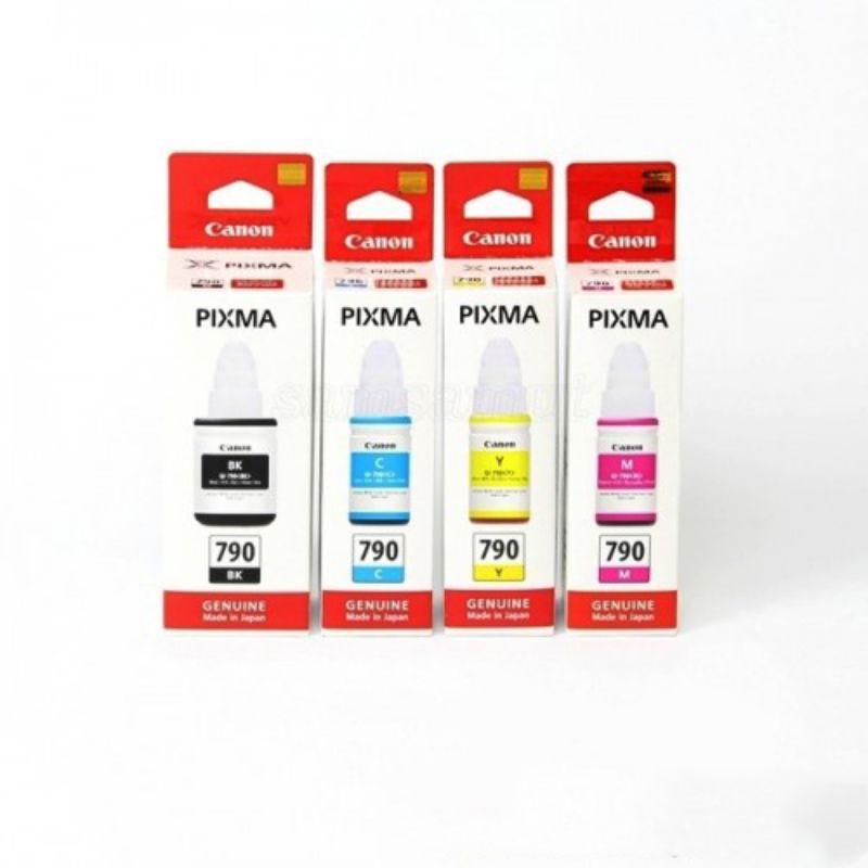 หมึกแท้ CANON GI-790 BK,M,C,Y สำหรับ Canon Pixma : G1000-G4000/G2010-4010
