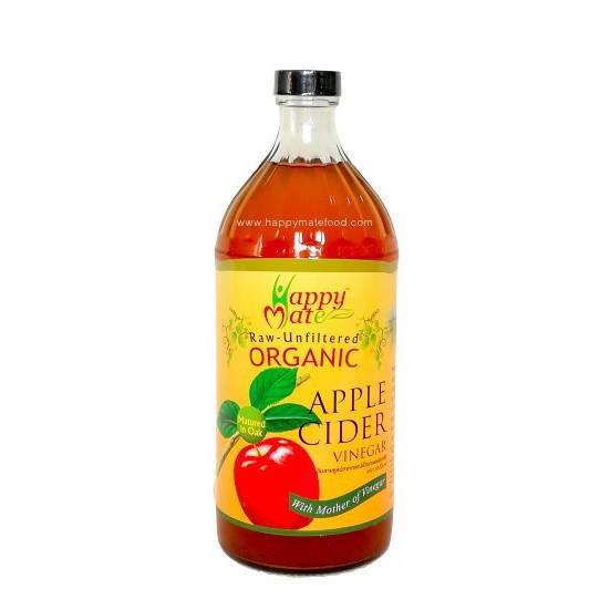 แอปเปิ้ลไซเดอร์ HappyMate 965 ml และ 500 ml (Organic Apple Cider Vinegar) ยี่ห้อ Happy mate