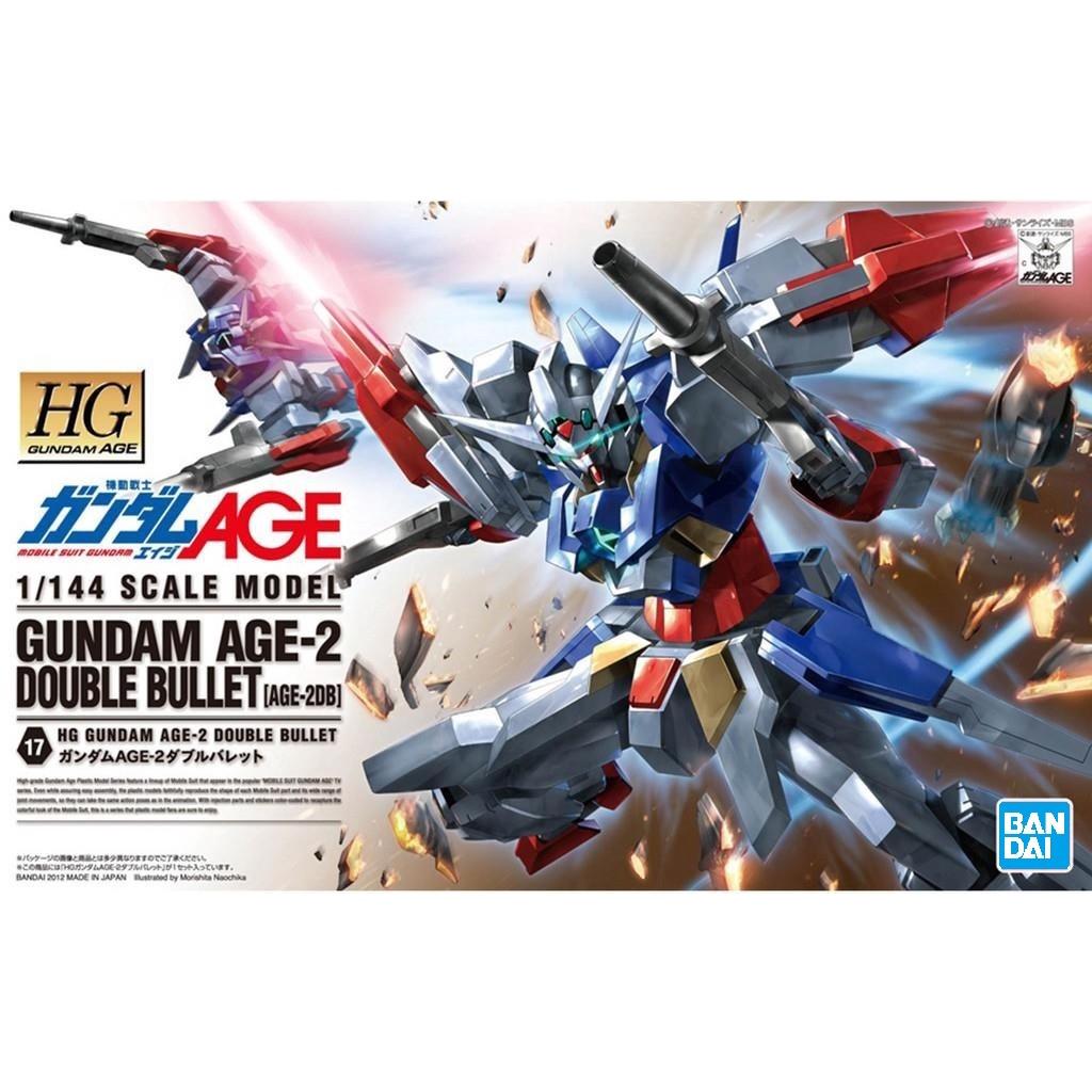 HG 1/144 AGE 017 Gundam AGE-2 Double Bullet  [BANDAI] Gunpla AGE 2 กันดั้ม กันพลา เอจ เอจทู ดับเบิ้ลบูลเล็ท