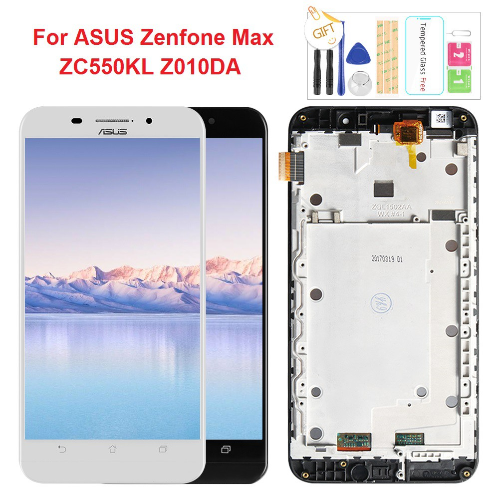 หน้าจอสัมผัสสำหรับ ASUS Zenfone Max ZC550KL Z010DA จอแอลซีดีจอแสดงผลการเ