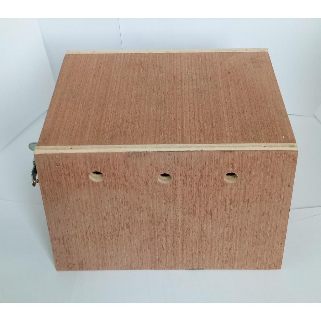 ◙♗❄นกหงษ์หยก ชูก้า กระรอก กล่องนอน กล่องเพาะ รังนกหงส์หยก บ้านไม้นก (จำนวน 1 ใบ ) กล่องไม้นก บ้านนกหงส์หยก กว้าง 14 ซมX