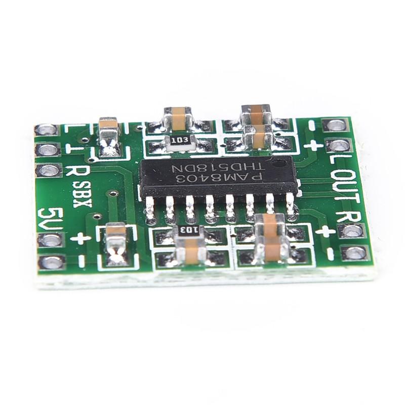 QYTH บอร์ดขยายเสียง PAM8403 2X3W Mini Audio Class D amplifier board