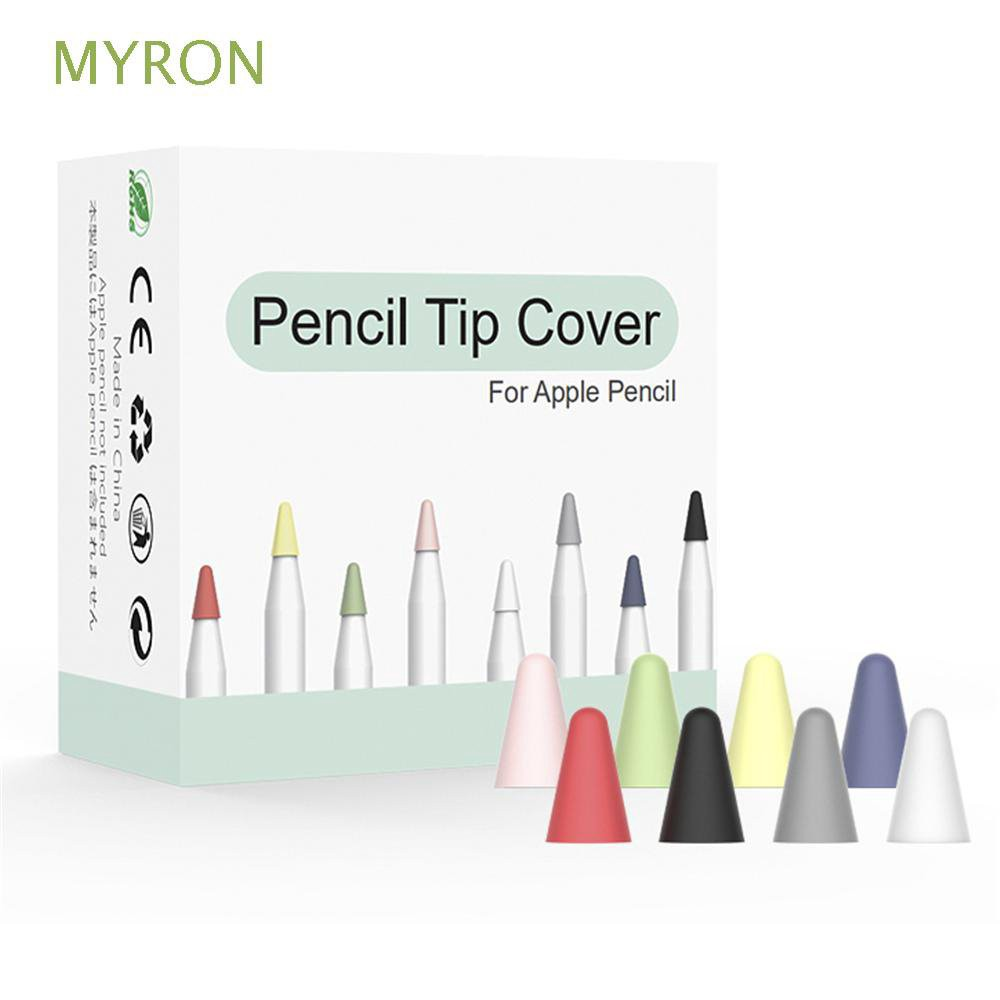 MYRON Candy Color Replacement Nib Cover Anti-noise Friction Smooth Tip Apple Pencil 1 2