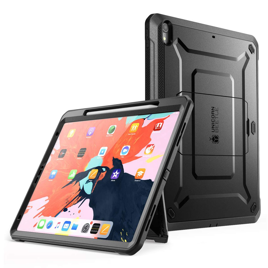 Case For iPad Pro 12.9'' 2018 SUPCASE Support Apple Pencil Charging with Screen Protector Protective Cover 2XRu
