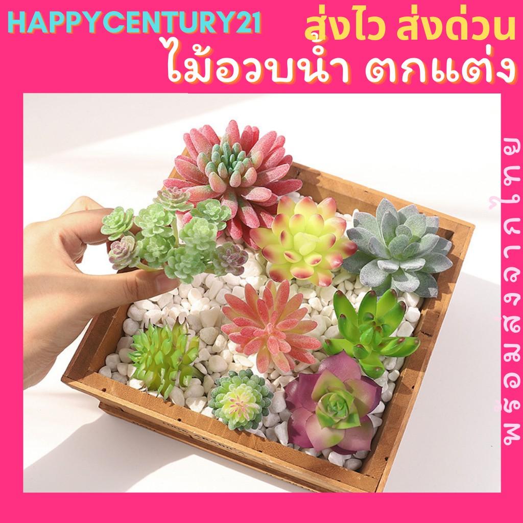 ส่งด่วน✅ ไม้อวบน้ำ Succulent กุหลาบหิน แบบรวมสายพันธุ์ ดอกไม้ปลอม ดอกไม้ตกแต่ง ดอกไม้ปลอม ต้นไม้ตกแต่งห้อง มินิมอล
