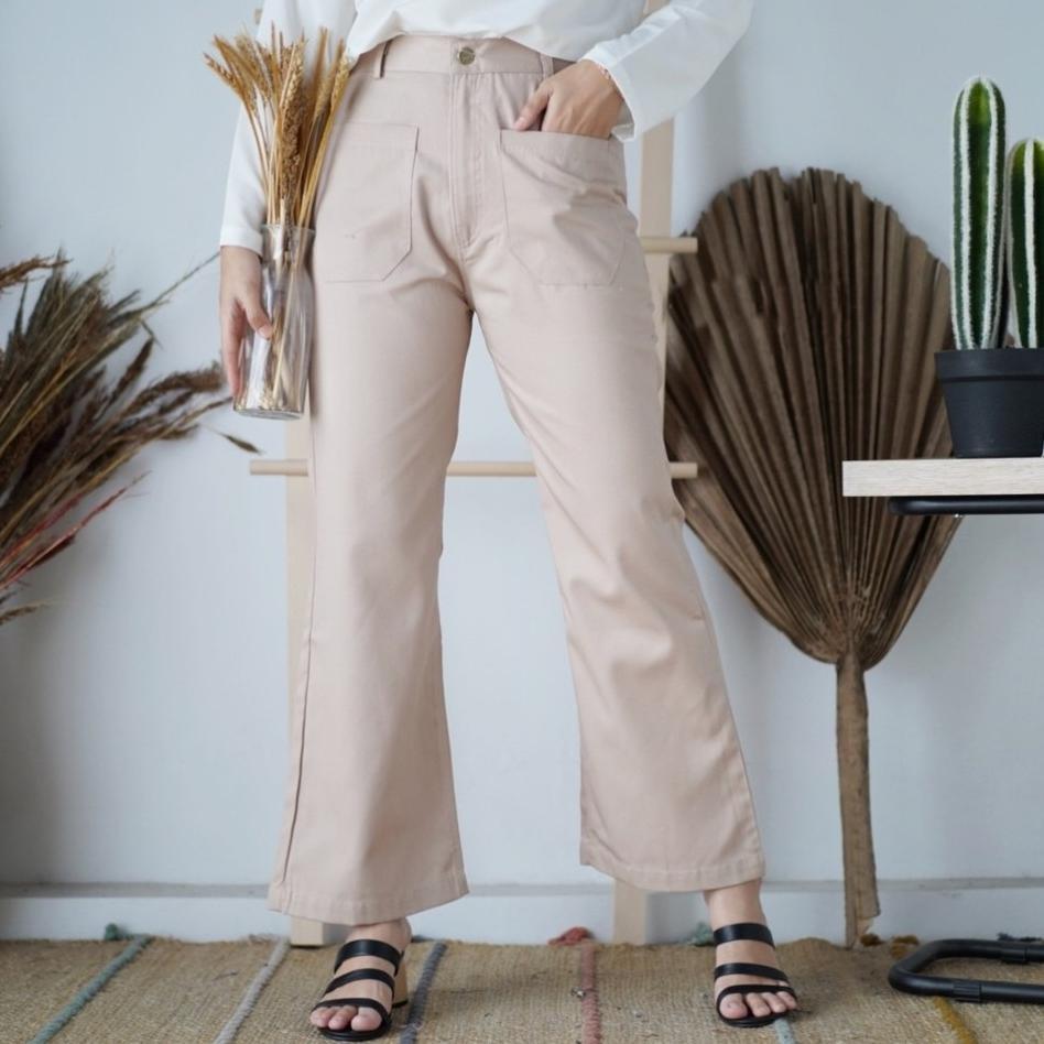 กางเกง 'azza Cutbray กางเกงแฟชั่น