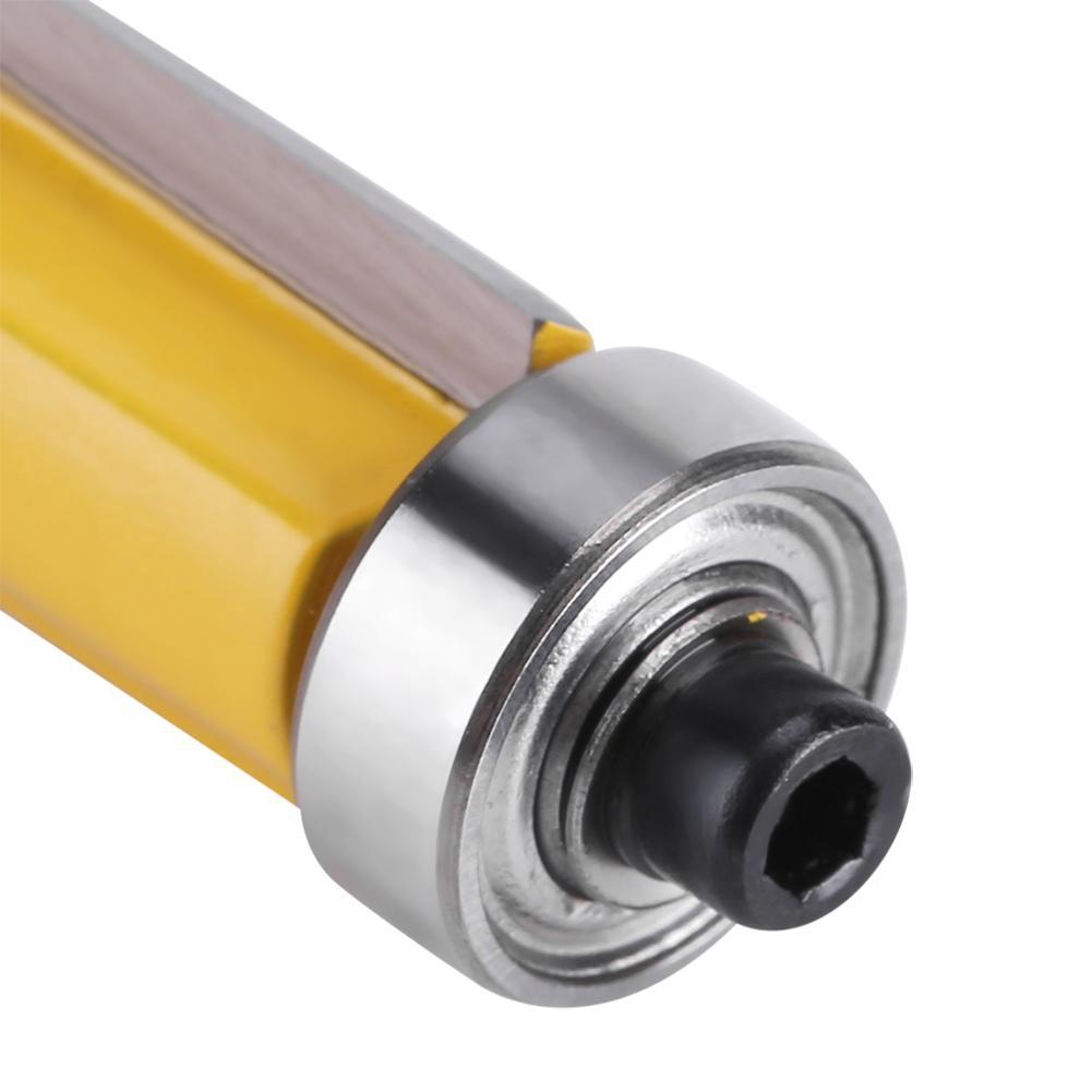 "1//4/"" Shank Top /&Bottom Bearing Flush Trim Router Bit For Woodworking 38mm"
