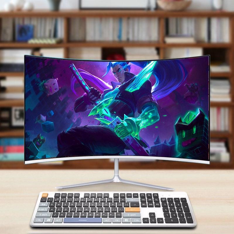 ของใหม่24จอแสดงผลพื้นผิวโค้งบางเฉียบนิ้ว22เกมE-Sportsความละเอียดสูงhdmiจอคอมพิวเตอร์ตั้งโต๊ะ