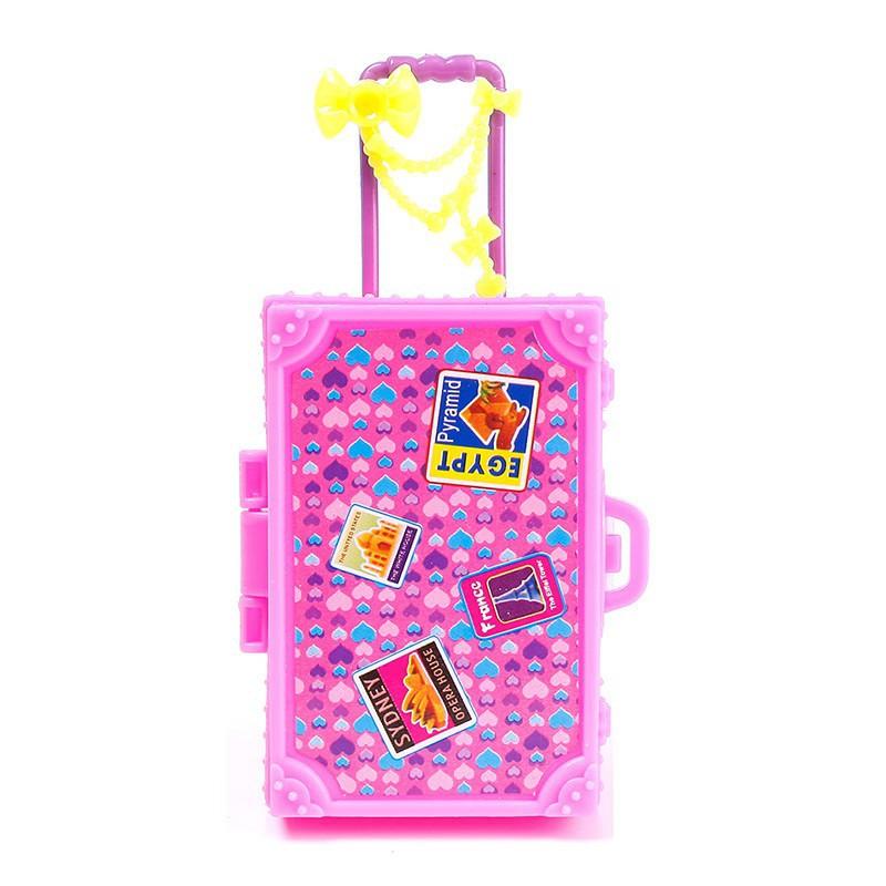 FG กระเป๋าเดินทาง 3D ของบาร์บี้ ของเล่นเด็ก
