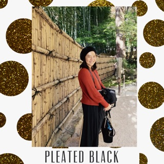 Review Pleated Black Skirt : Uniqlo