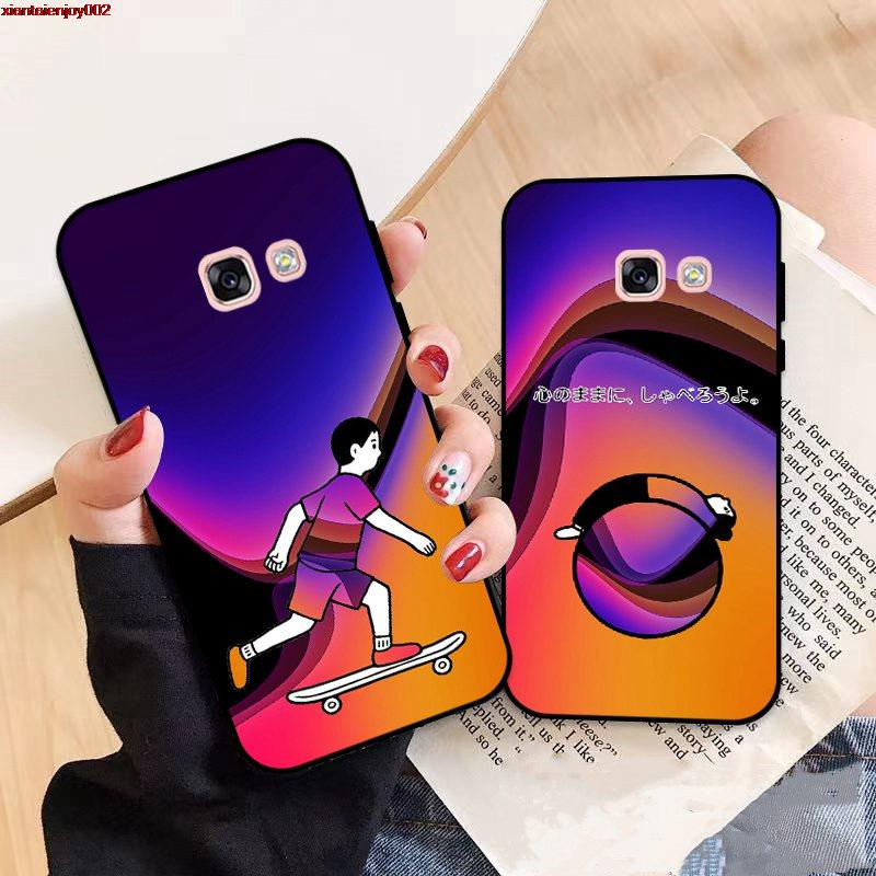 Samsung A3 A5 A6 A7 A8 A9 Pro Star Plus 2015 2016 2017 2018 HTKT Pattern-3 Silicon Case Cover