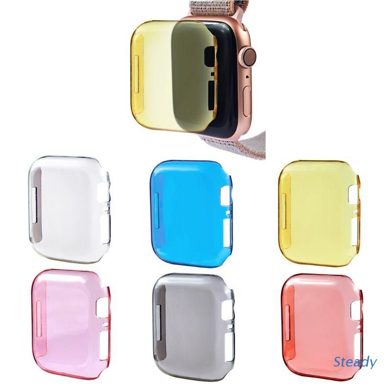 Steady for Apple watch 40mm 44mm Serie 4 Shockproof Case Cover Screen Protector for iWatch 4 TPU Transparent Dropproof Waterproof