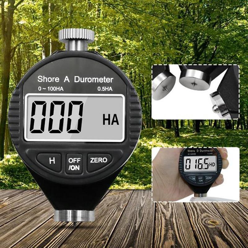 เครื่องวัดความถี่ดิจิตอล Shore Hardness Durometer 0-100 A / C / D สําหรับยางพลาสติก