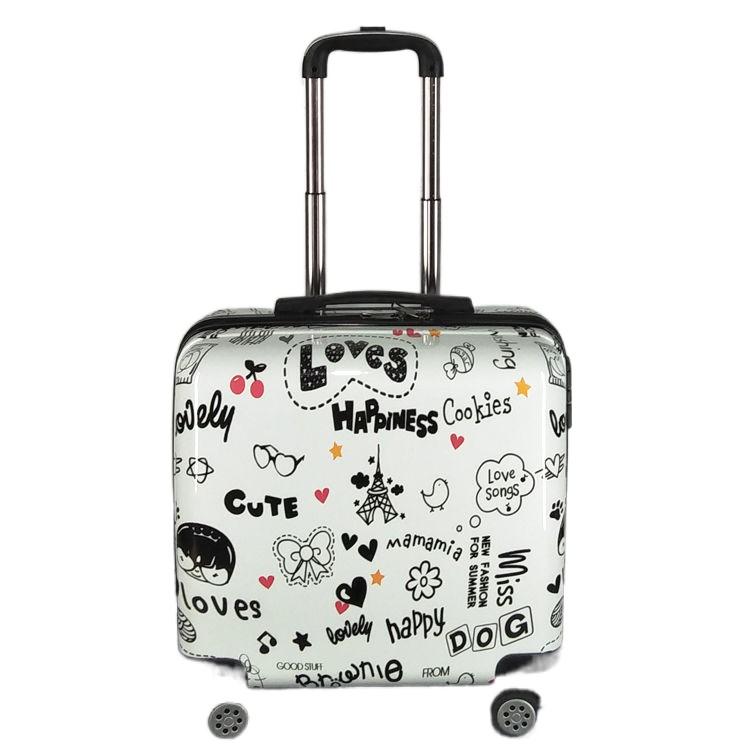 ▽[ร้อน] [เคสรถเข็น] กระเป๋าเดินทางขนาดเล็ก กระเป๋าเดินทางขนาดเล็กและเบา กระเป๋าเดินทางรหัสผ่านสำหรับสตรี 20 ใบ ชายตัวเล็