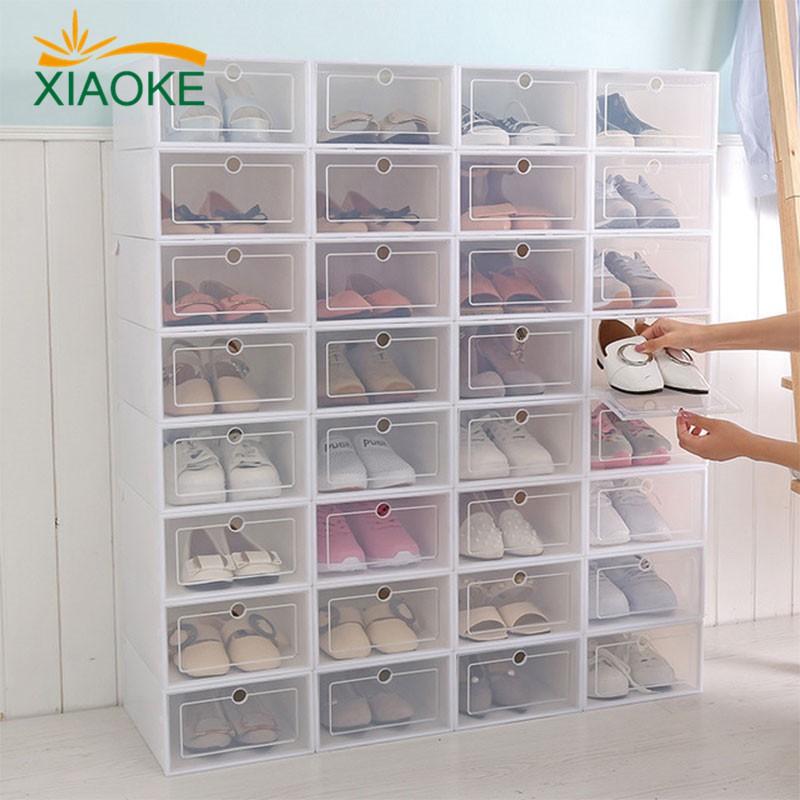 หนาใสกล่องรองเท้าพลาสติกกล่องรองเท้ารองเท้าลิ้นชักกล่องรองเท้า 68