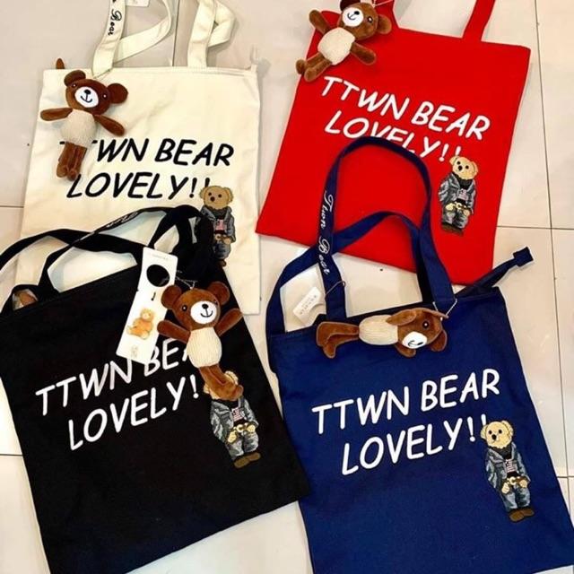 TTWN BEAR กระเป๋าถุงผ้าลดโลกร้อน แบรนด์น้องหมี