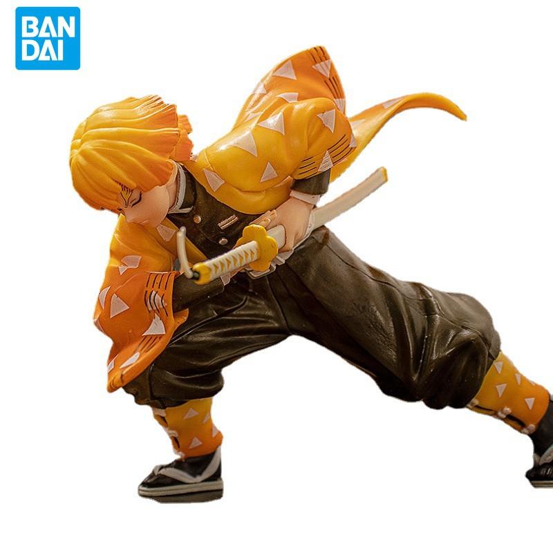 BANDAI Anime 25CM VC Demon Slayer Battle Edition Agatsuma Zenitsu Demon Slayer Blade Action Figure Model Doll Decoration